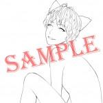 【SAMPLE入り】猫線画【トリミング済】