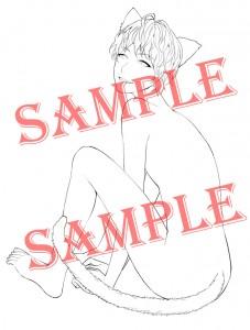 【SAMPLE入り】猫線画